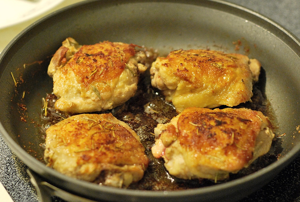 Quick & Easy: Pan Fried Chicken Thighs | the tasty spot